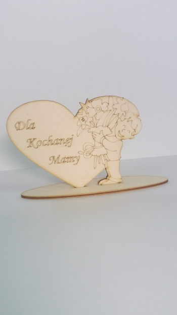 Serce dla kochanej Mamy-chłopiec